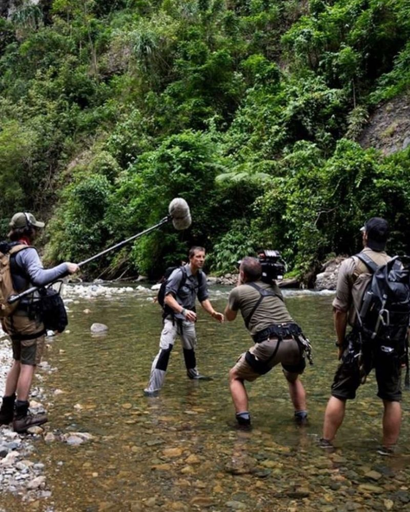 Former crew members say many scenes on Man vs. Wild were staged