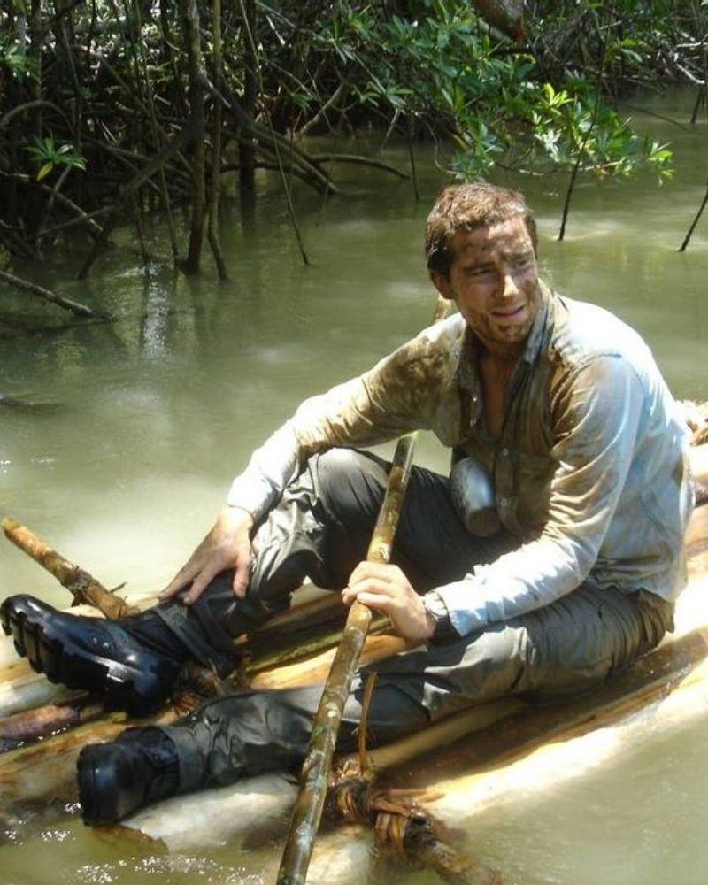 The crew on Man vs. Wild often step in to help Bear Grylls