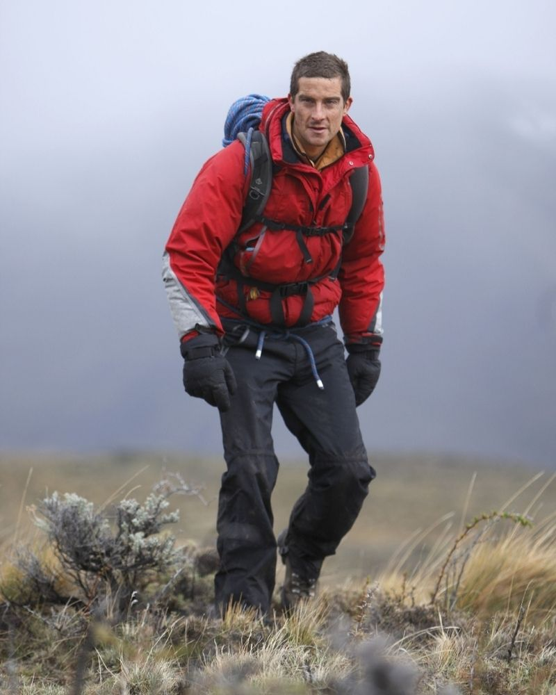 Bear Grylls was once stranded in Antarctica with a broken shoulder
